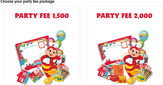 Jollibee Party Package for 50 Persons