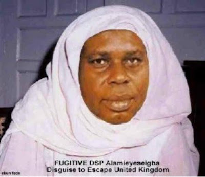 Diepreye Alamieyeseigha wanted for extradition,Diepreye Alamieyeseigha escaped from uk dressed as a woman,