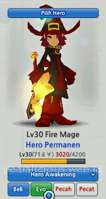 Fire Mage Hero Evolution LostSaga Indonesia