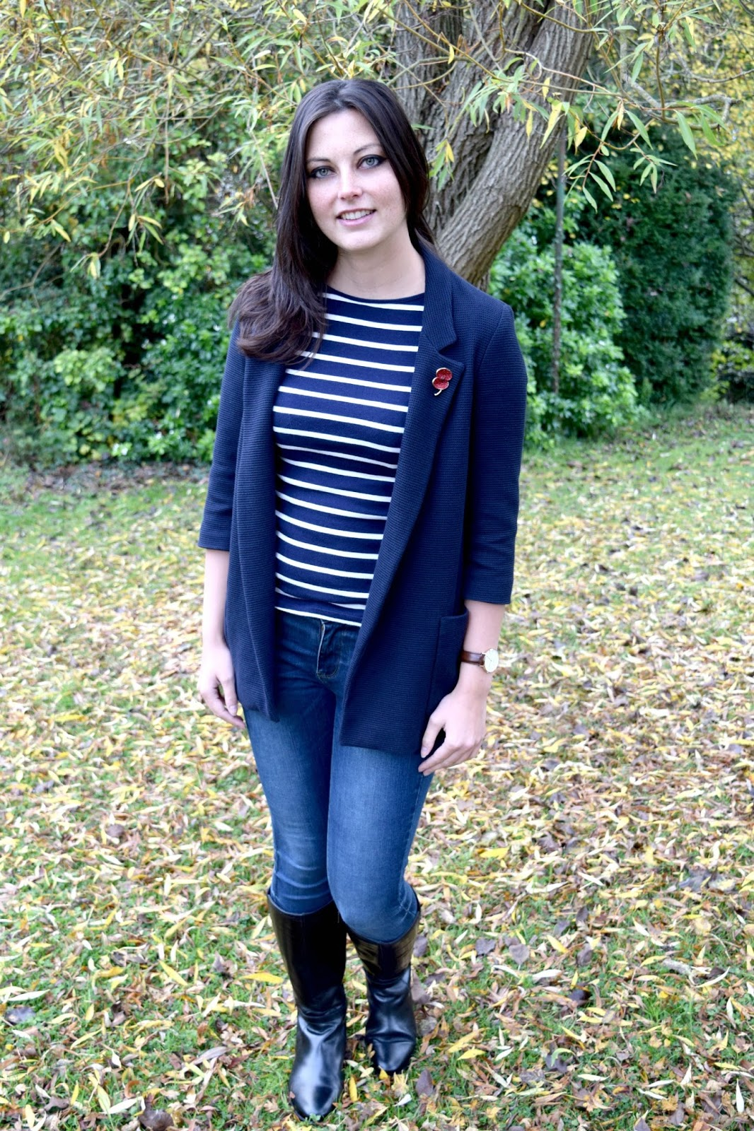 Casual autumn look fashion styling post