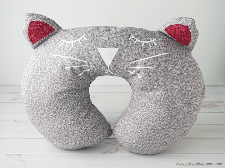 DIY Cat Travel Pillow with Free Pattern