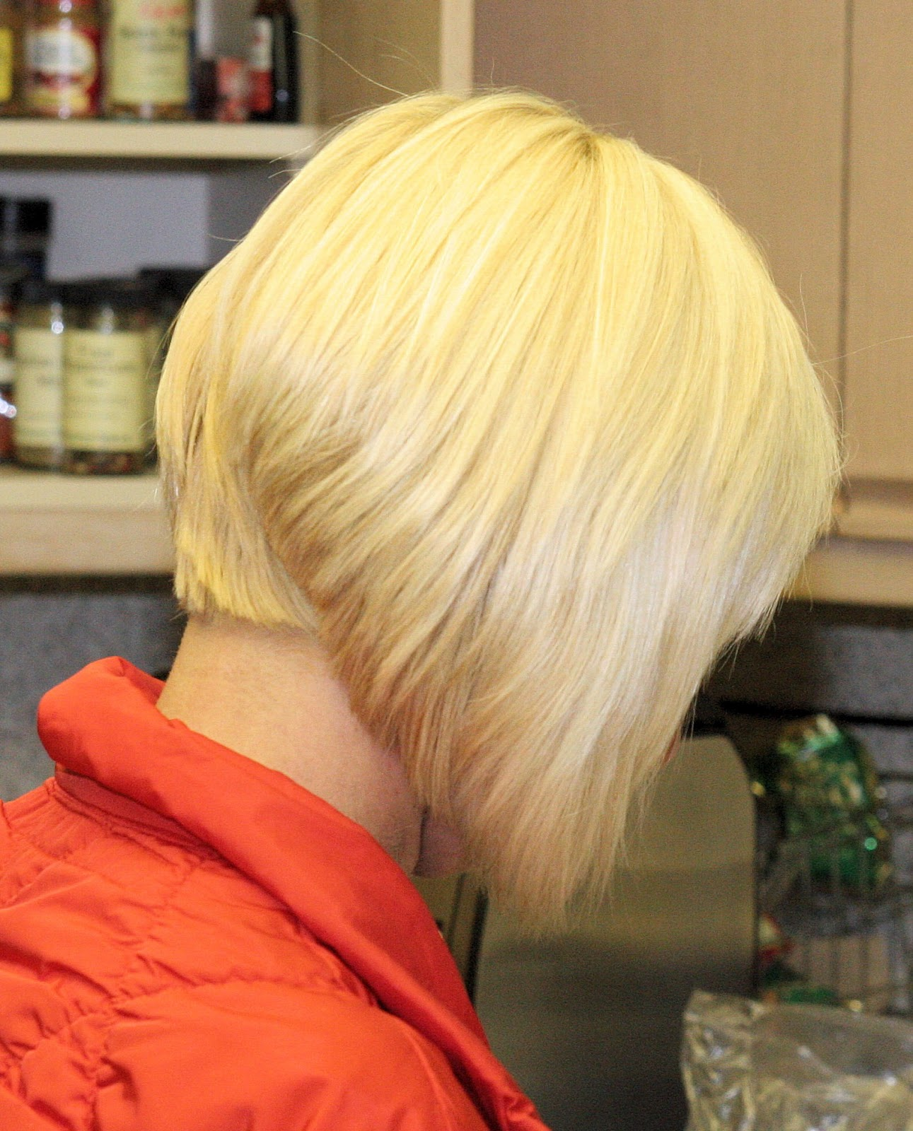 Angled Bob Haircut From Back Hairstyle