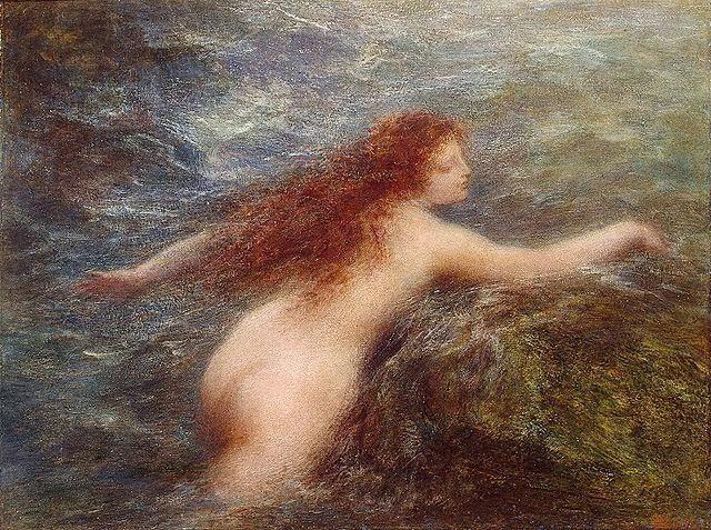 Naiade - Henri Fantin-Latour - Suas melhores pinturas ~ francês