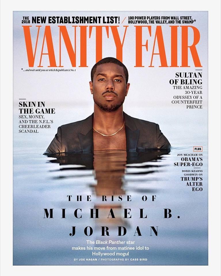 Michael B. Jordan for Vanity Fair November 2018