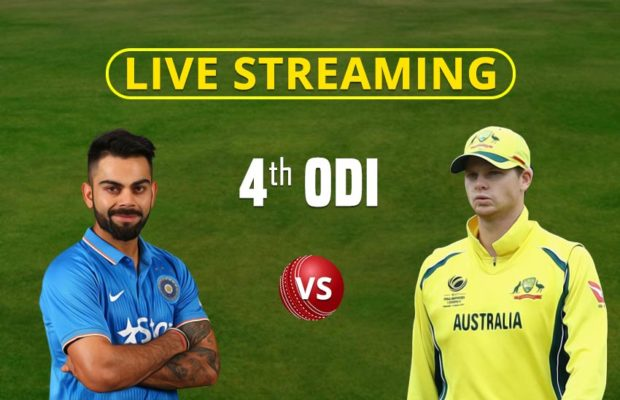 India vs Australia 4th ODI Live Online Streaming