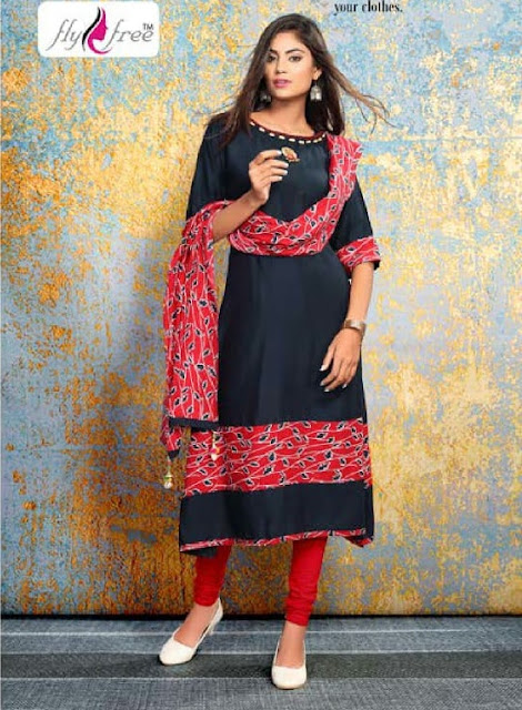 Fly free nidhi 2 kurtis With Dupatta Wholesaler