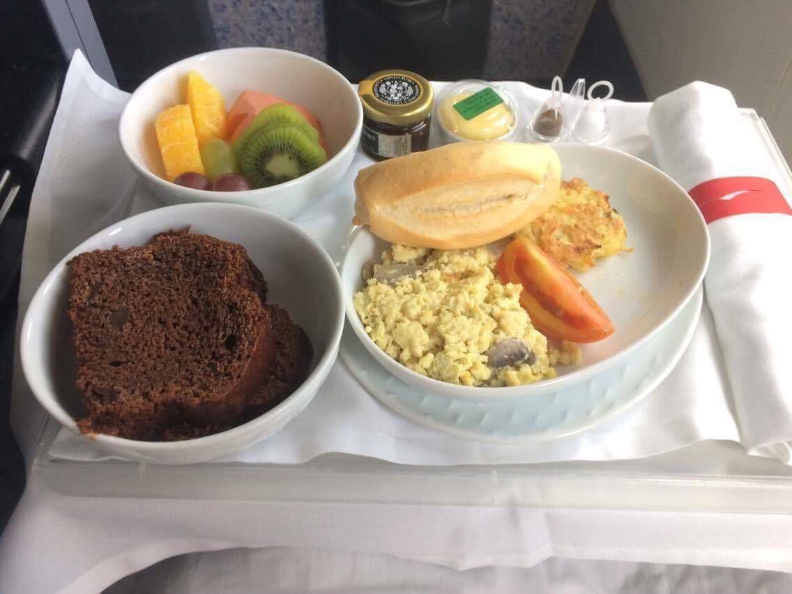café da manhã executiva Latam