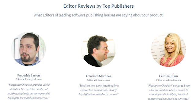 Editor Reviews of plagiarism checker X