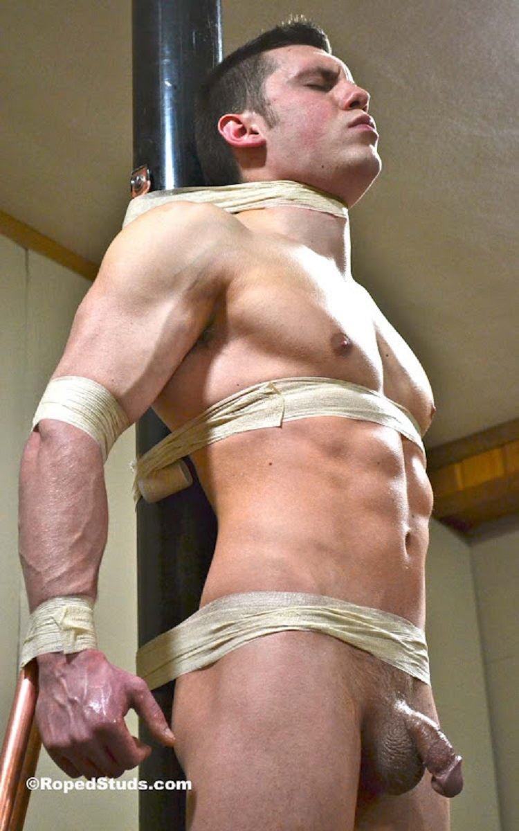 Young boy bondage gay aiden is blindfolded