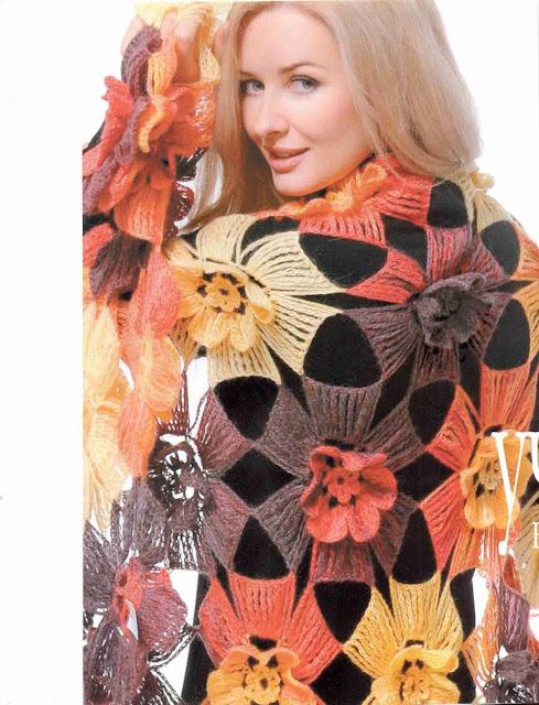 Patrón #1370: Chal a Crochet