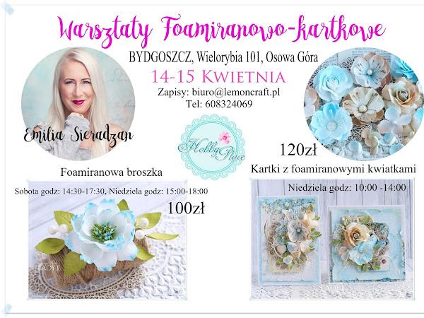 Foamiranowe Warsztaty w Bydgoszczy / Foamiran Workshops in Poland