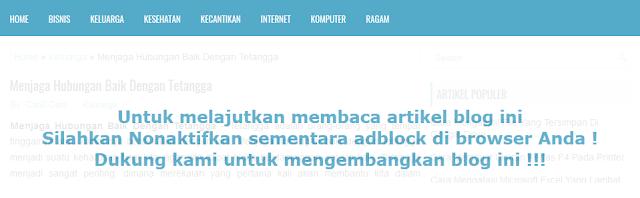 Cara Memasang Script Anti Adblock Di Blogger Cara Memasang Script Anti Adblock Di Blogger
