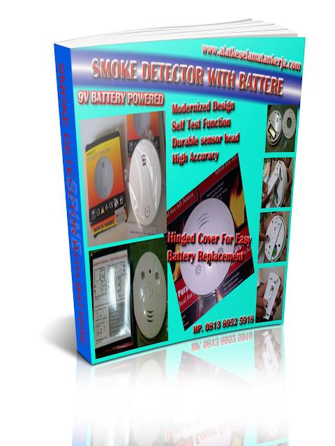 Smoke Detector Battere 9 Volt Portable tanpa Instalasi