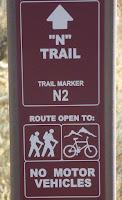 """""""N"""" trail sign"""