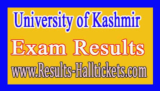 university of kashmir Islamic Studies (Combined I-IV) June/Nov 2015 Exam Results
