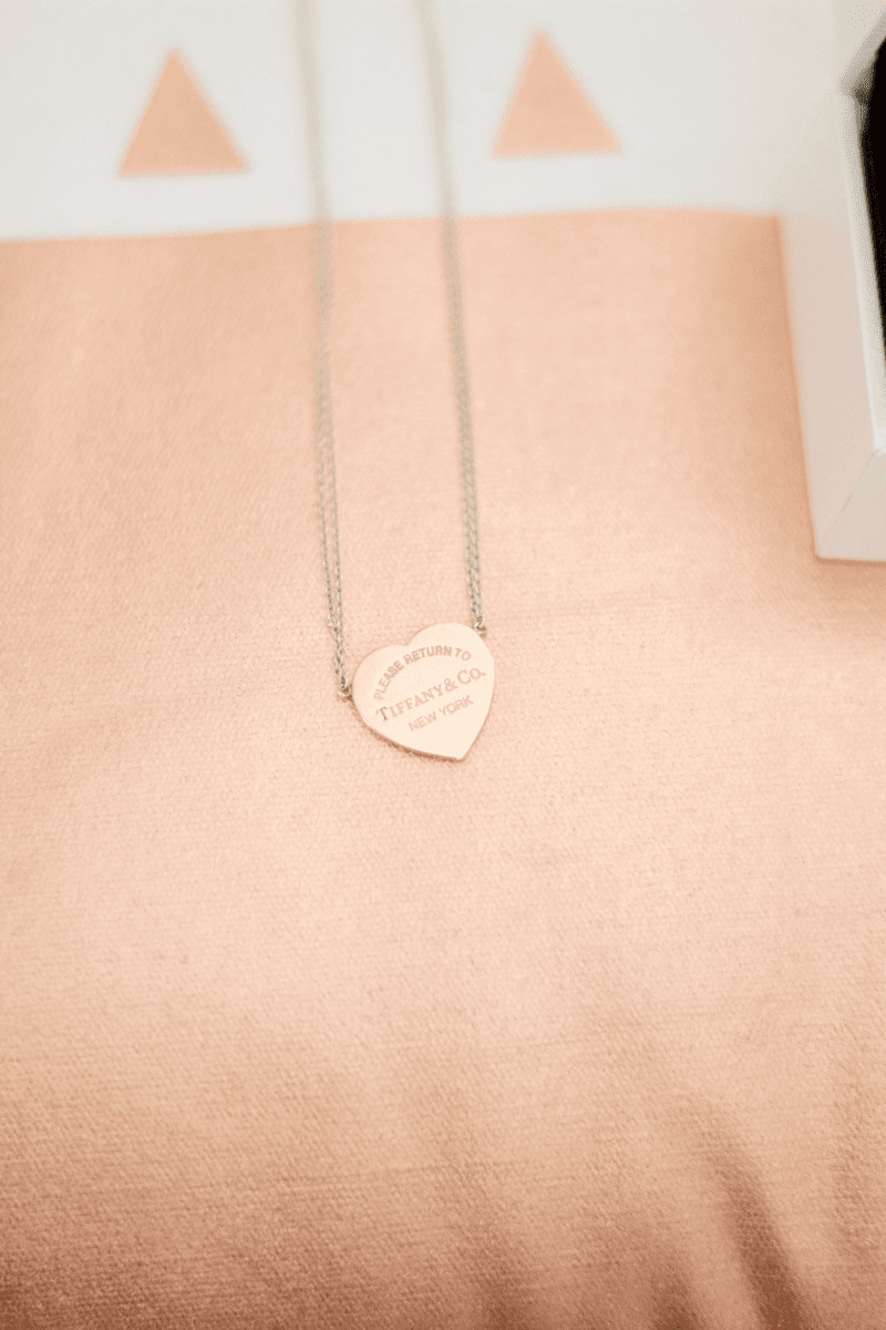 Rose gold Tiffany's necklace