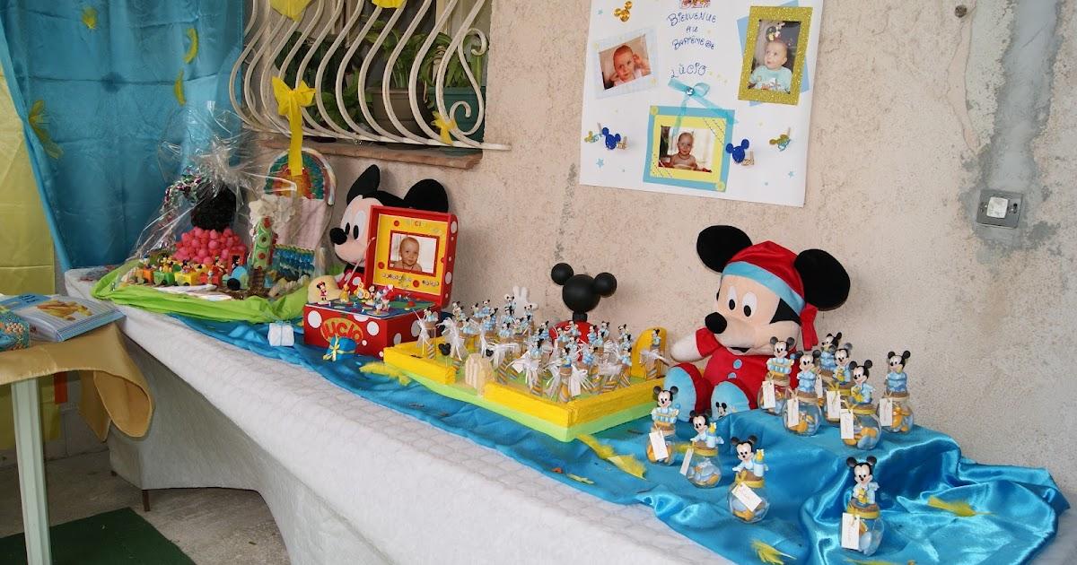 Faire Une Decoration De Table De Bapteme Sur Mickey