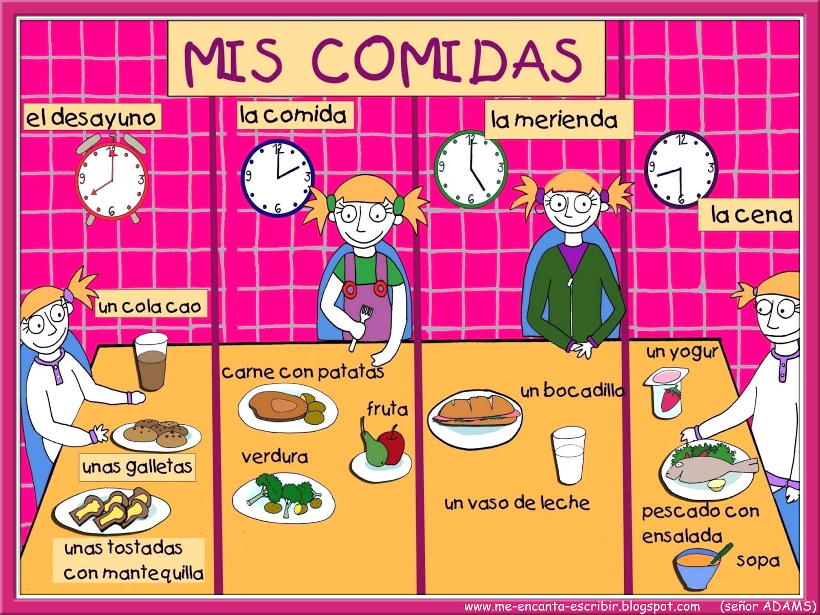 Me Encanta Escribir En Espanol A Que Hora Comen Los