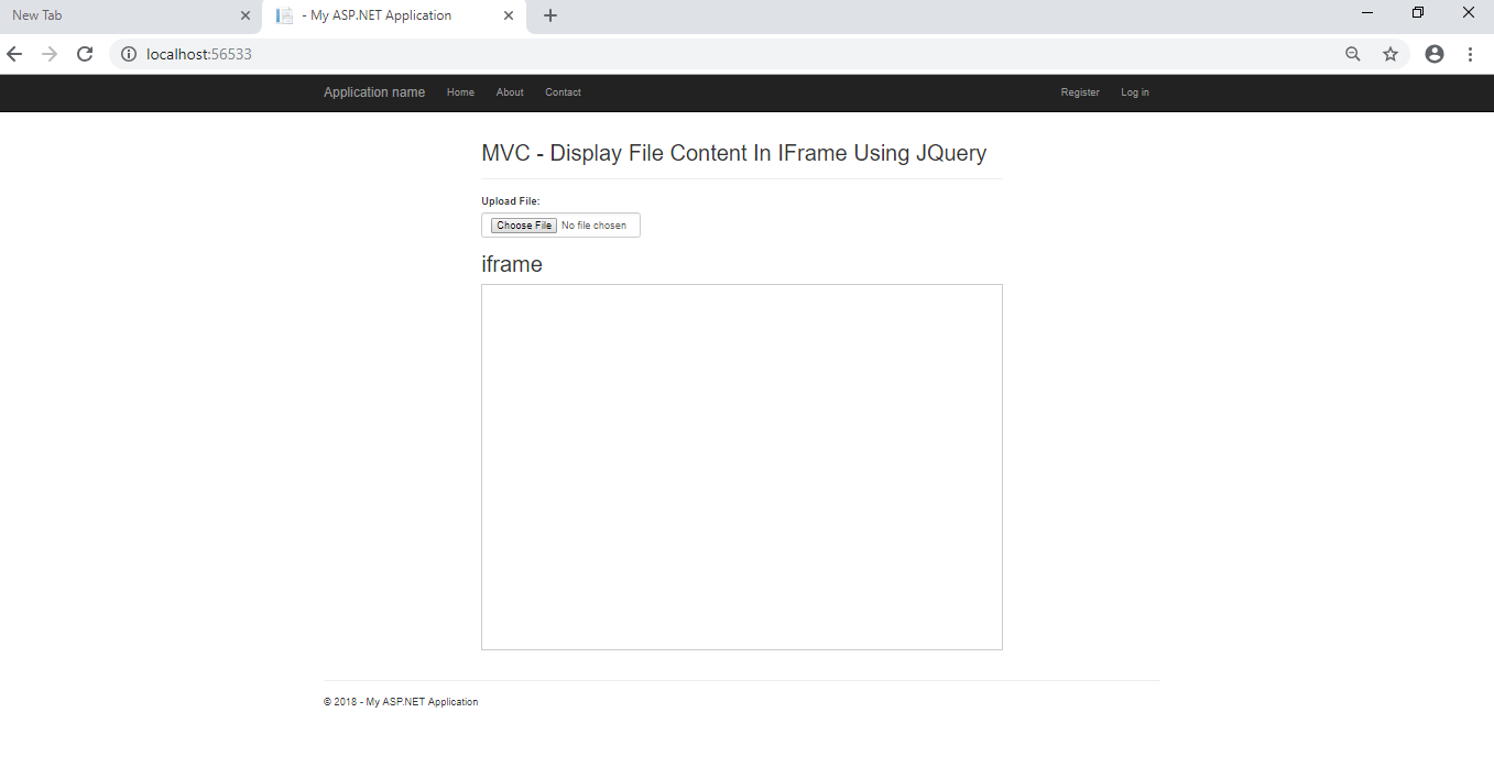 Display File Content From Selected file in IFrame in MVC using JQuery