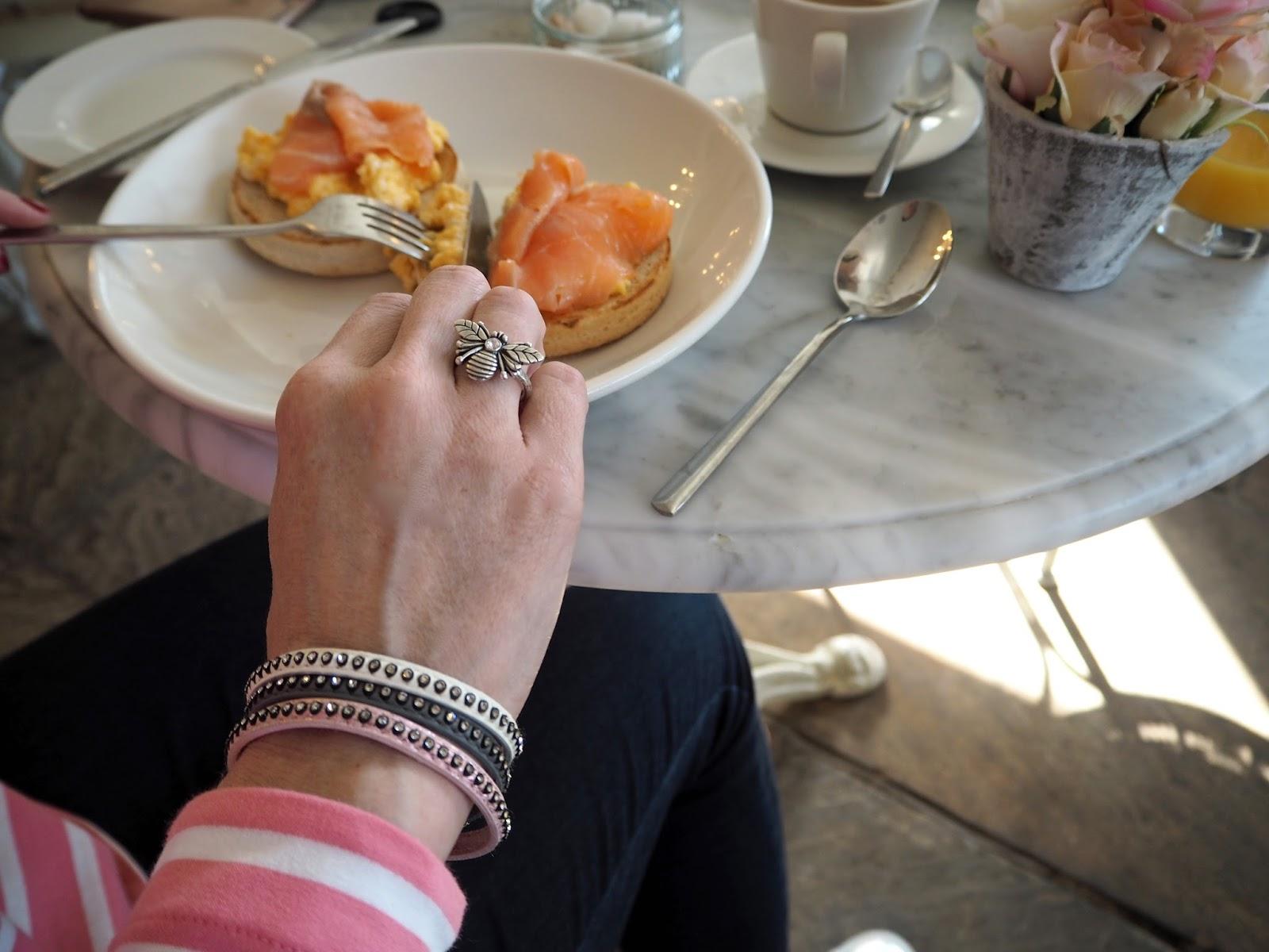 A review of Beck Hall Hotel and Bistro, Malham, Yorkshire Dales. The Secret Garden Bistro, Beck Hall, Malham, breakfast