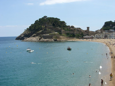 Tossa de Mar beach in La Costa Brava