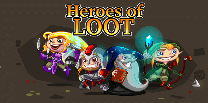 Heroes of Loot Android Piksel Küçük Bouytlu Sonsuz Macera Oyunu APK İndir - androidliyim