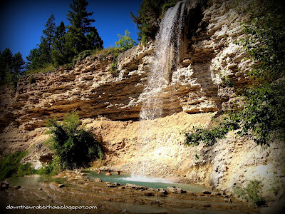 Fairmont hot springs waterfall, British Columbia hot springs