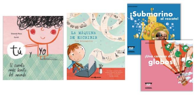 libros infantiles: tú y yo, la máquina de escribir, pop-downs combel