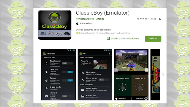 emulador classicboy para smartphone Android N64