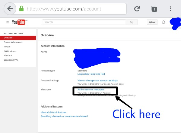 Youtube channel account settings overview