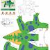 plantillas Dinosaurios en 3D para armar