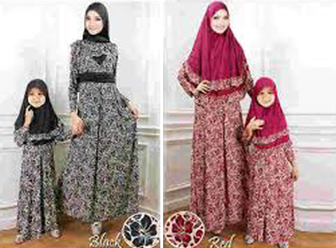 31 Model Baju Gamis Ibu Dan Anak Perempuan Cantik 2019 Model Baju