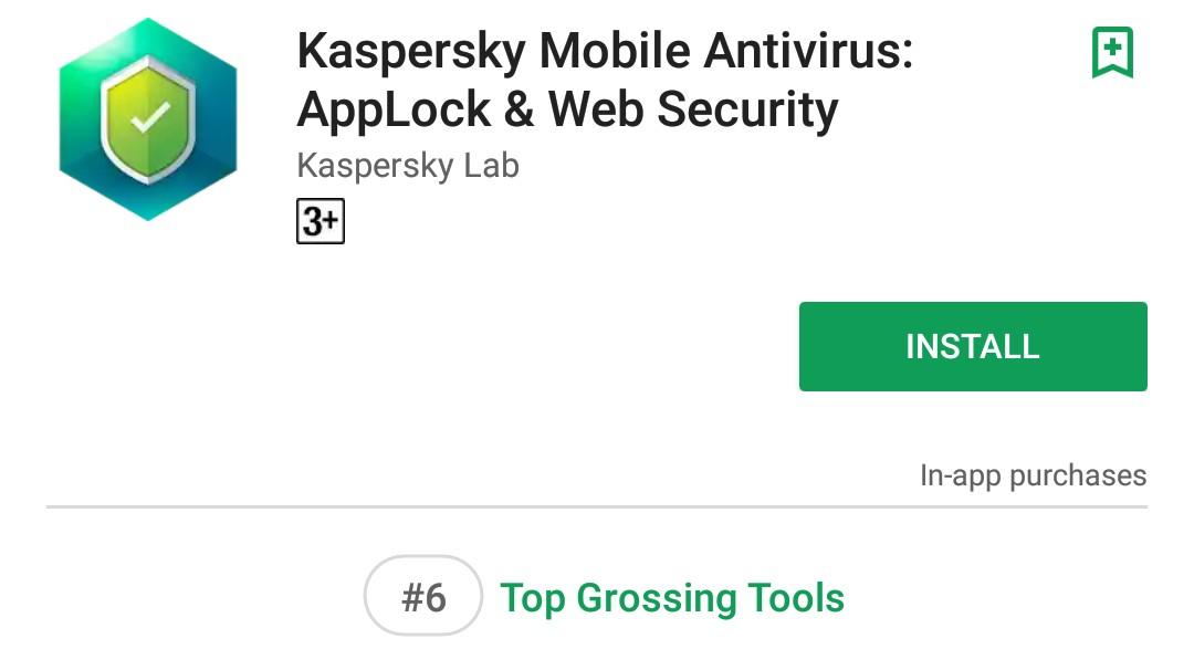 Kaspersky Mobile Antivirus Google Play Download