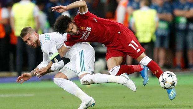 Mohamed Salah and Sergio Ramos