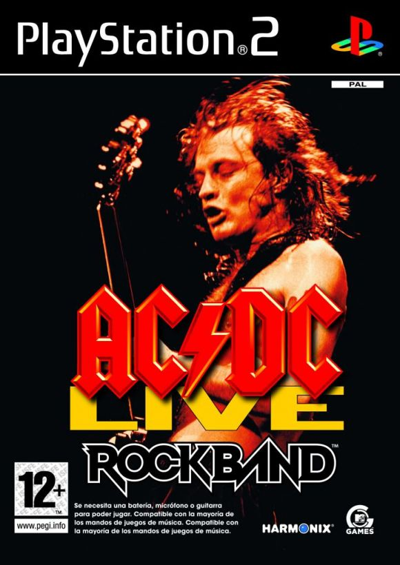 AC/DC LIVE Rock Band Track Pack PAL PS2