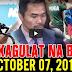 Nakakagulat Na Balita Ngayon October 07, 2017 - Sen. Manny Pacquiao | Alejano | Pres. Duterte