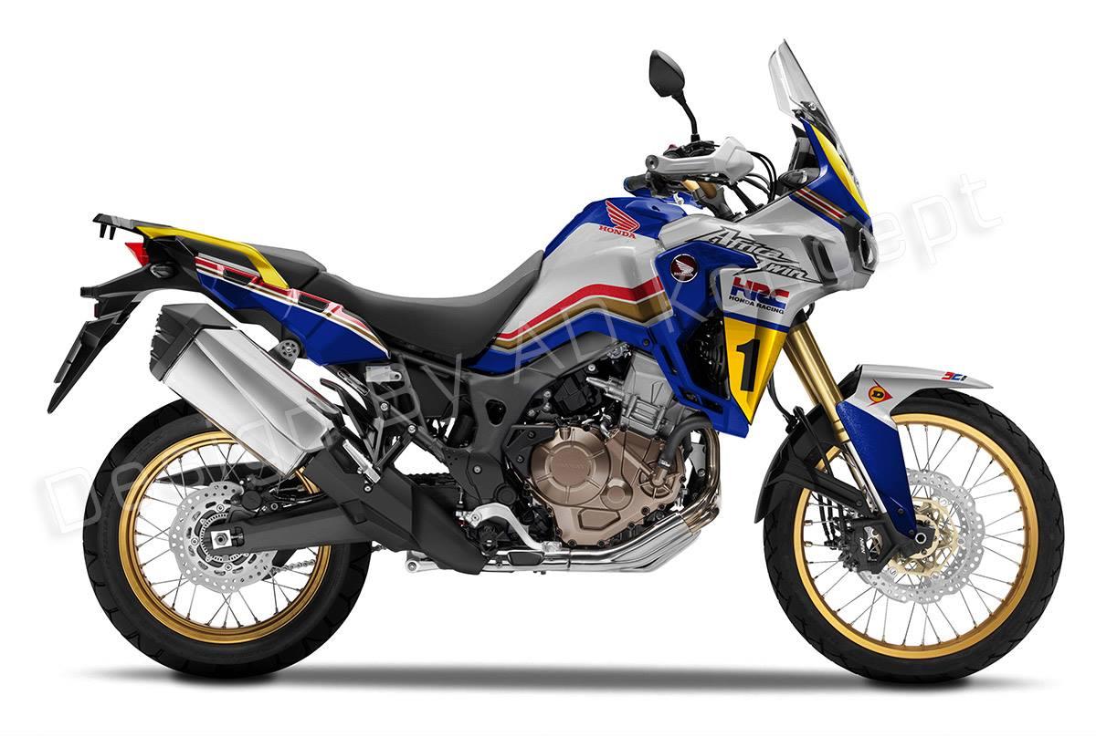 "Bell Racing Helmets >> Racing Cafè: Design Corner - Honda CRF 1000L Africa Twin ""Rothmans"" by AD Koncept"