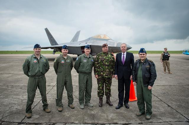 F-22 RAPTOR LANDING IN ROMANIA