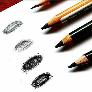 pensil yang digunakan untuk menggambar wajah