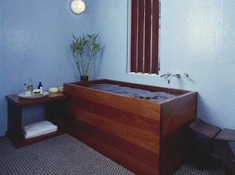 Bañera estilo japonés