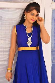 Actress Harisha Krishna Stills in Beautiful Blue Chudiddar  0012.jpg