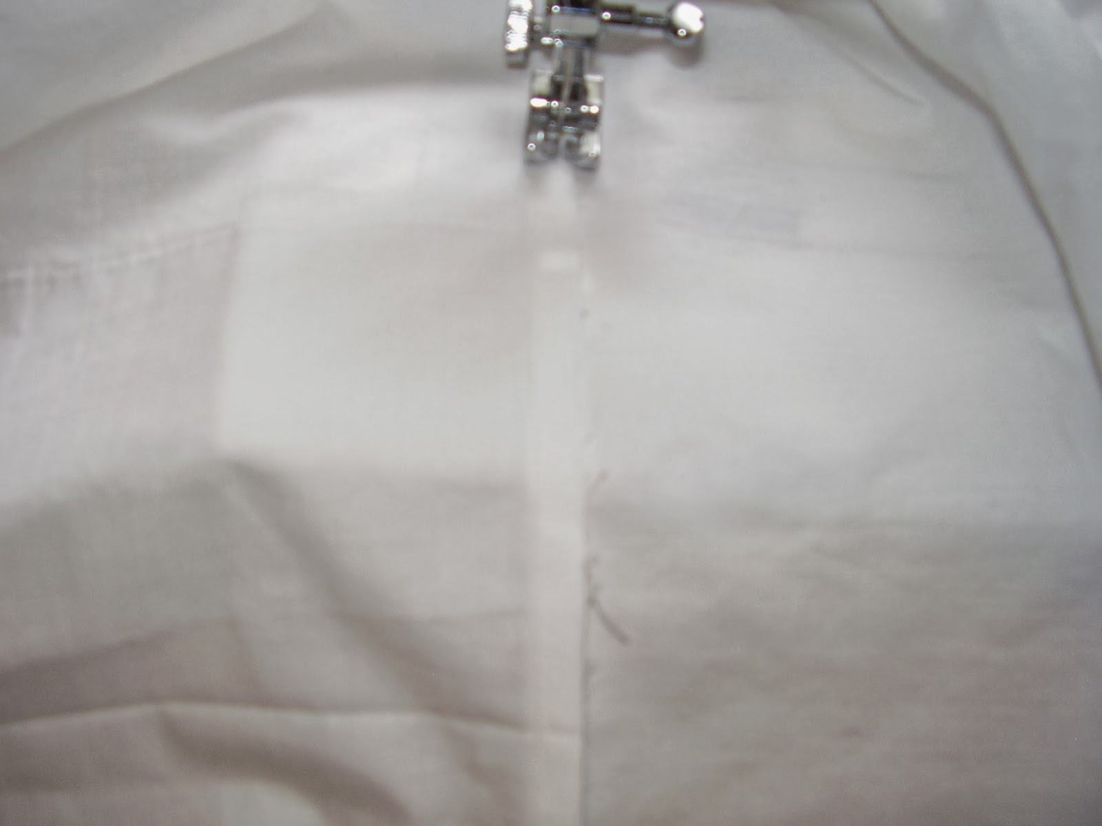 Felling seams on a sewing machine.