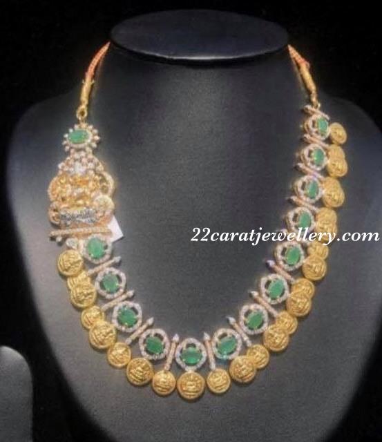 Emerald Trendy Kasu Necklace