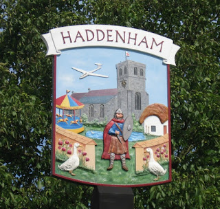 village-sign-Haddenham-church-knight-and-geese