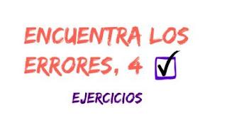 ENCUENTRA LOS ERRORES, 4. Un juego-ejercicio para repasar tu español.