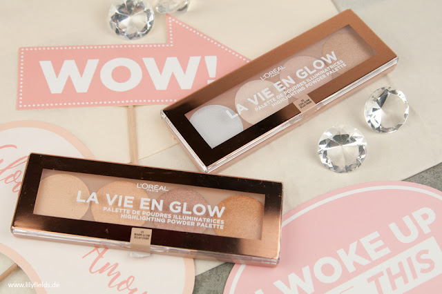 La Vie En Glow - Highlighting Powder Palette - 01 Warm Glow & 02 Cool Glow