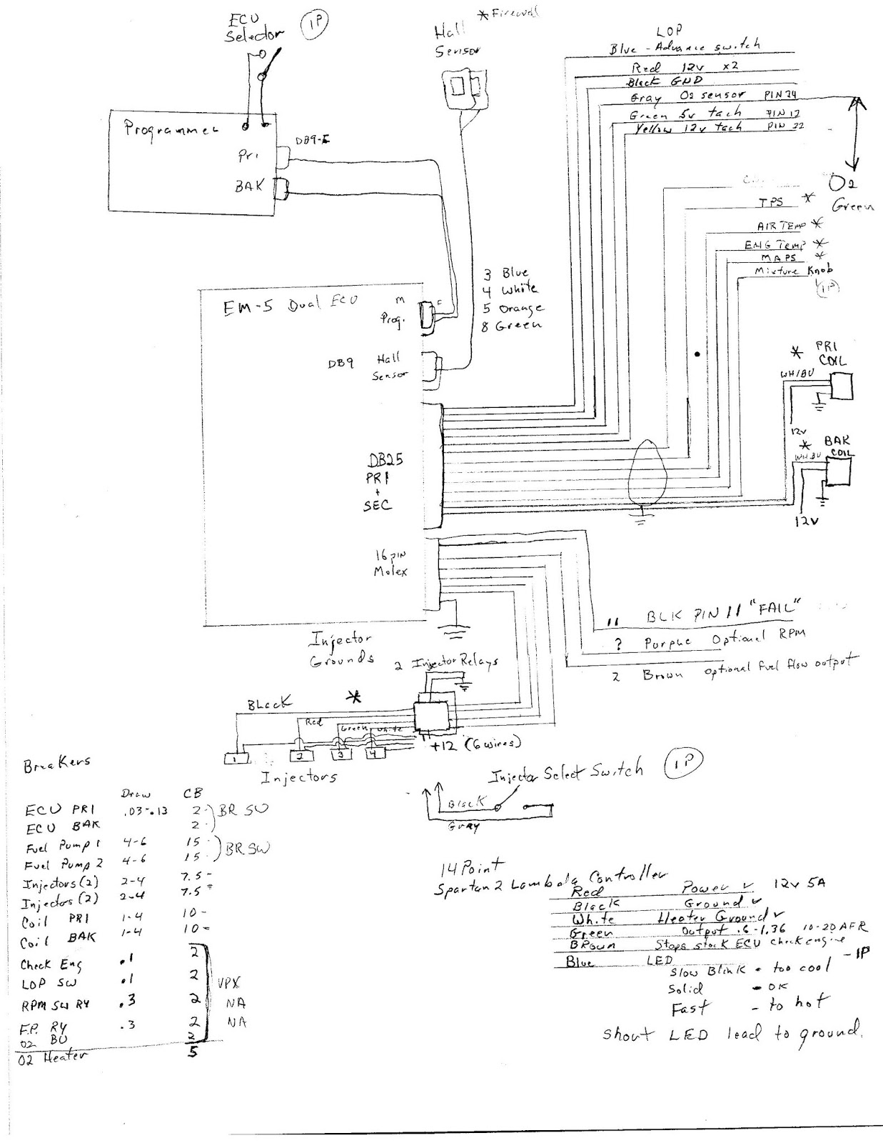 pin assignments for firewall bulkhead connectors and other electrical wiring info  [ 1237 x 1600 Pixel ]