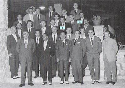 Organizadores y jugadores del Torneo Internacional de Ajedrez Tarragona 1960