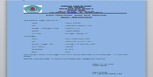 Download Format Pernyataan Aktif Mengajar Terbaru