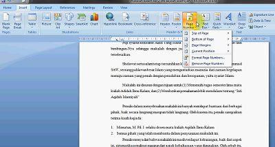 Kalau biasanya kan kita pakai cara biasa saja Cara Membuat Halaman di Word, Beda Format dalam 1 File!